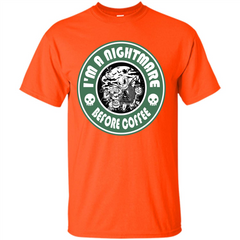 Halloween T-shirt I'm A Nightmare Before Coffee T-shirt Custom Ultra Tshirt - WackyTee