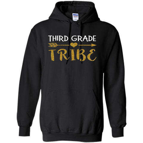 Third Grade Tribe T-shirt School Day T-shirt Black / S Pullover Hoodie 8 oz - WackyTee