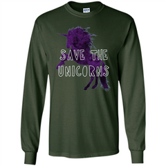 Unicorn T-shirt Save the Unicorns T-shirt LS Ultra Cotton Tshirt - WackyTee