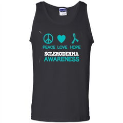 Scleroderma Awareness Ribbon Support T-shirt Peace Love Hope T-shirt Tank Top - WackyTee