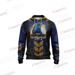 Harry Potter - Ravenclaw House Sporty Style Unisex Zip Up Hoodie Fullprinted Zip Up Hoodie - WackyTee