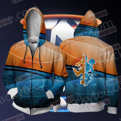 Portal Unisex Zip Up Hoodie Jacket