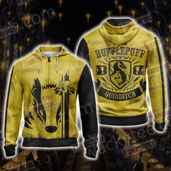 Harry Potter - Hufflepuff House Quidditch Unisex Zip Up Hoodie