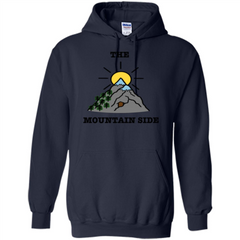 The Mountain Side T-shirt Pullover Hoodie 8 oz - WackyTee