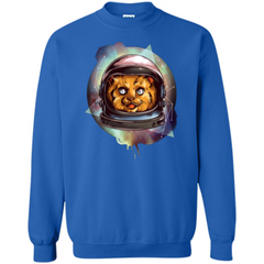 Space Kitty T-shirt Printed Crewneck Pullover Sweatshirt 8 oz - WackyTee