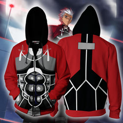 Archer - Fate Stay Night Cosplay Zip Up Hoodie Jacket