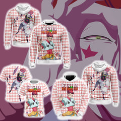 Hunter x Hunter - Hiskoka Unisex Zip Up Hoodie Fullprinted Zip Up Hoodie - WackyTee
