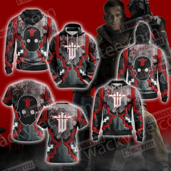 Wolfenstein: The Old Blood Unisex Zip Up Hoodie Jacket Fullprinted Zip Up Hoodie - WackyTee