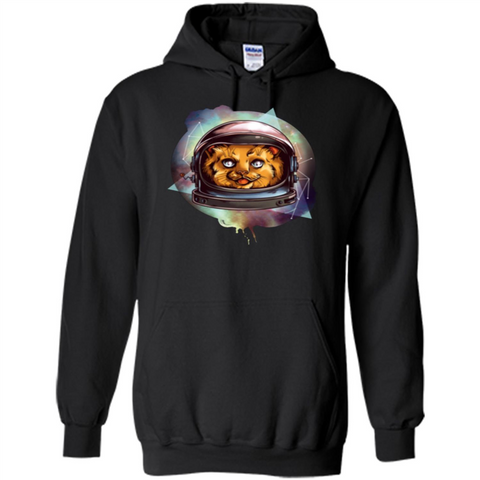 Space Kitty T-shirt Black / S Pullover Hoodie 8 oz - WackyTee