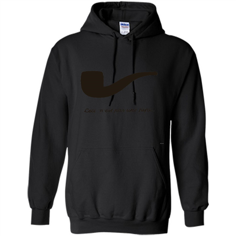 Ceci N'est Pas Une Pipe T-Shirt Black / S Pullover Hoodie 8 oz - WackyTee