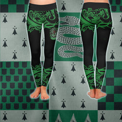 Cunning Like A Slytherin Harry Potter 3D Leggings