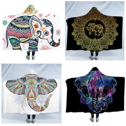 Hooded Blanket Indian Elephant Collection 4 version