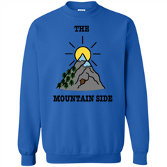 The Mountain Side T-shirt Printed Crewneck Pullover Sweatshirt 8 oz - WackyTee