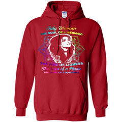 July Woman T-shirt The Heart Of A Hippie Pullover Hoodie 8 oz - WackyTee