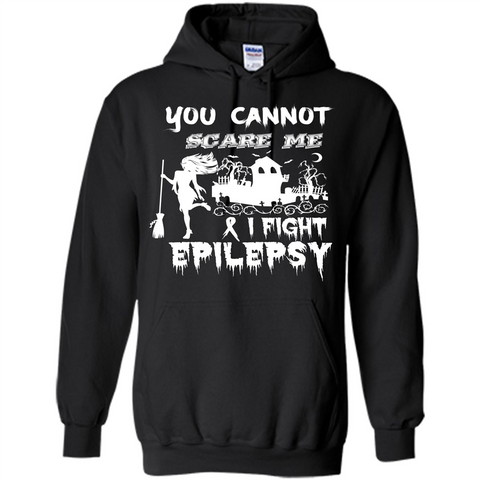 Epilepsy Awareness T-shirt You Cannot Scare Me I Fight Epilepsy T-shirt Black / S Pullover Hoodie 8 oz - WackyTee