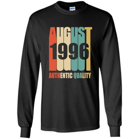 August 1996 Authentic Quality T-shirt Black / S LS Ultra Cotton Tshirt - WackyTee