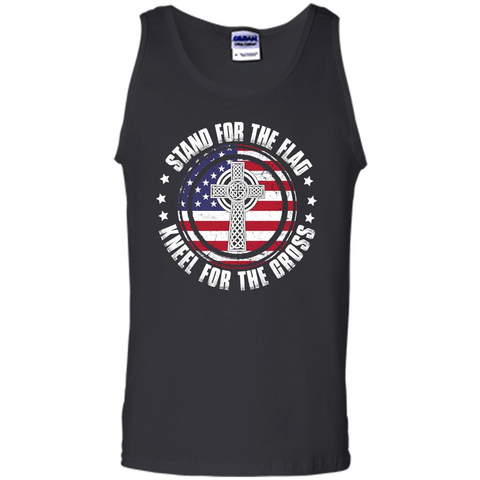 Stand For The Flag Knell For The Cross T-shirt Black / S Tank Top - WackyTee