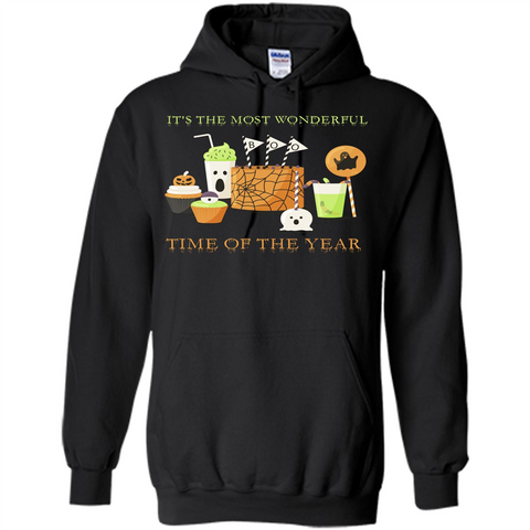 Halloween T-shirt It's The most Wonderful Time Of The Year Black / S Pullover Hoodie 8 oz - WackyTee