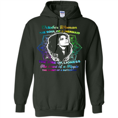October Woman T-shirt The Heart Of A Hippie Pullover Hoodie 8 oz - WackyTee