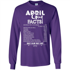 April Guy Facts T-shirt LS Ultra Cotton Tshirt - WackyTee