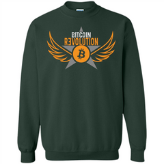 Bitcoin T-shirt Cool Cryptocurrency Revolution BTC Logo T-shirt Printed Crewneck Pullover Sweatshirt 8 oz - WackyTee
