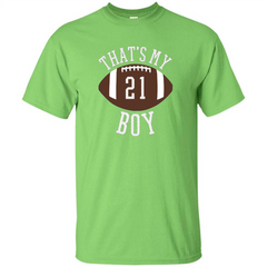 Thats My Boy #21 Football Number T-shirt Custom Ultra Tshirt - WackyTee
