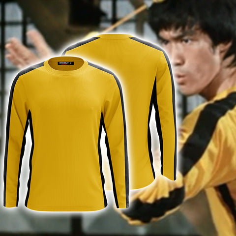 Game Of Death Bruce Lee Kung Fu Version Cosplay 3D Long Sleeve Shirt