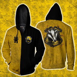 A Hufflepuff Would Die With You Harry Potter Zip Up Hoodie