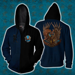 A Ravenclaw Figure Out A Solution Where No One Dies Harry Potter Zip Up Hoodie