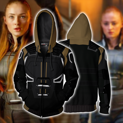 ae8aa08ad X-men: Dark Phoenix - Jean Grey Cosplay Zip Up Hoodie Jacket | WackyTee