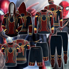 Spider-man: Homecoming Iron Spider Cosplay Zip Up Hoodie Jacket Fullprinted Zip Up Hoodie - WackyTee