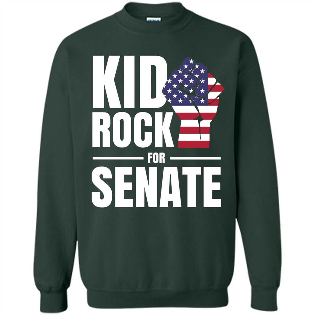 e5a6f4124 CAMPAIGN Kid For US Senate Election. In Rock We Trust T-shirt Printed  Crewneck