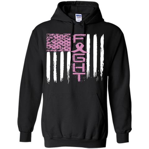 Breast Cancer Awareness T-shirt Pink Fight Black / S Pullover Hoodie 8 oz - WackyTee