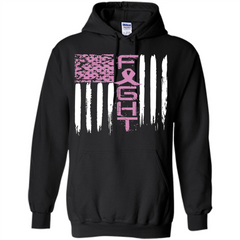 Breast Cancer Awareness T-shirt Pink Fight Pullover Hoodie 8 oz - WackyTee