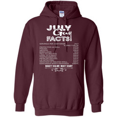 July Guy Facts T-shirt Pullover Hoodie 8 oz - WackyTee