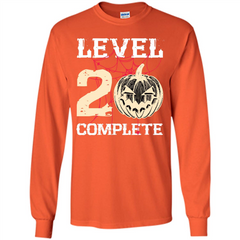 Halloween T-shirt Level 20 Complete LS Ultra Cotton Tshirt - WackyTee