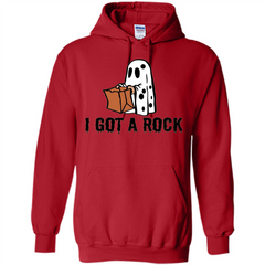 Halloween Ghost T-shirt I Got A Rock Pullover Hoodie 8 oz - WackyTee