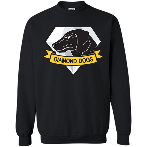 Diamond Dogs T-shirt Black / S Printed Crewneck Pullover Sweatshirt 8 oz - WackyTee
