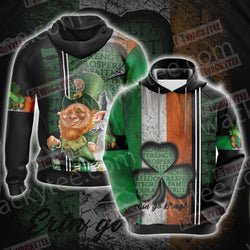 Irish Erin Go Bragh Saint Patricks Day Unisex 3D Hoodie