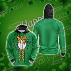 Leprechaun Costumes Saint Patricks Day Unisex 3D Hoodie