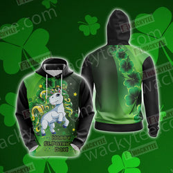 Unicorn Happy Saint Patrick's Day 3D Hoodie
