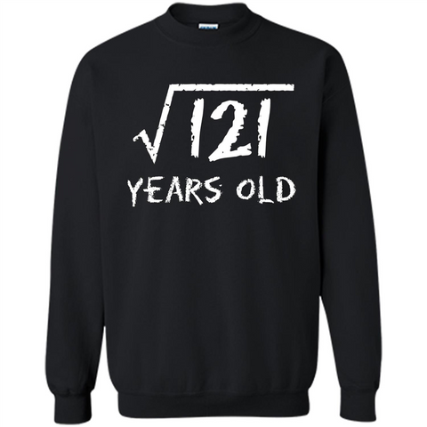 Square Root Of 121 T-shirt 11Th Birthday 11 Years Old T-Shirt Black / S Printed Crewneck Pullover Sweatshirt 8 oz - WackyTee