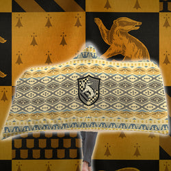The Just Hufflepuff Harry Potter 3D Hooded Blanket