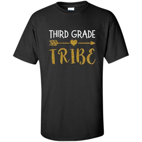 Third Grade Tribe T-shirt School Day T-shirt Black / S Custom Ultra Cotton - WackyTee