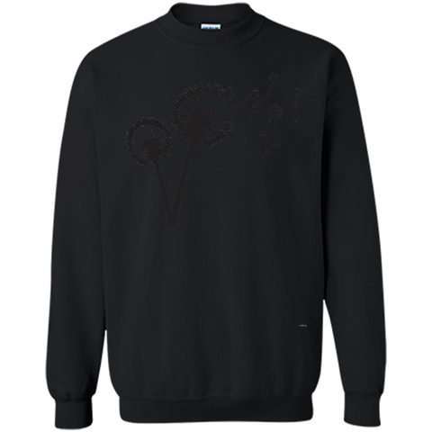 Dandylion Flight T-shirt Black / S Printed Crewneck Pullover Sweatshirt 8 oz - WackyTee
