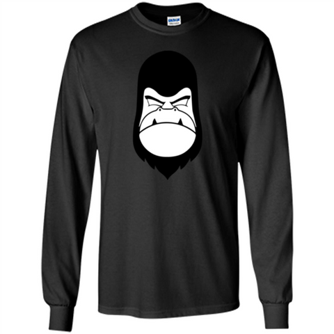 Gorilla Yes T-shirt Black / S LS Ultra Cotton Tshirt - WackyTee