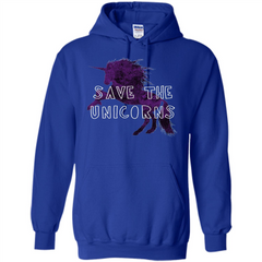 Unicorn T-shirt Save the Unicorns T-shirt Pullover Hoodie 8 oz - WackyTee