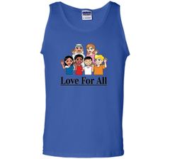Love For All- Multicultural Race Unity Diversity T-Shirt cool shirt Tank Top - WackyTee