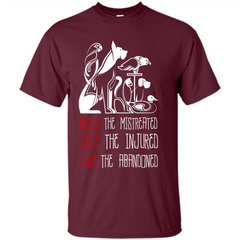 Animals T-shirt Rescue The Mistreated Save The Injured Love The Abandoned Custom Ultra Cotton - WackyTee