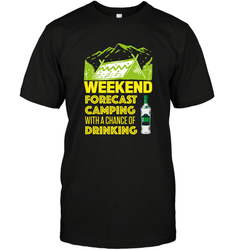 Weekend Forecast Camping With A Chance Of Drinking ShirtUnisex Short Sleeve Classic Tee